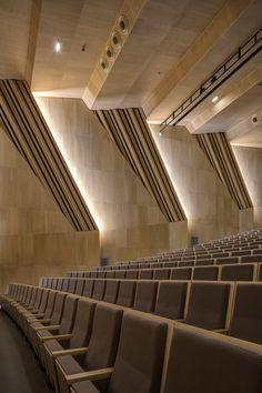Music and Dance Centre, Soissons, 2015 - Henri Gaudin architecte Concert Hall Architecture, Auditorium Architecture, Classroom Architecture, Theatre Architecture, Architecture Design, Cultural Architecture, Hall Interior Design, Home Theater Design, Hall Design