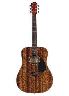 Guitarra acustica Natural  Fender CD60 All Mahogany tiene 20 trastes, ideal para hacer conciertos en vivo con facilidad # musicheadstore #acousticguitar #guitar #Fender