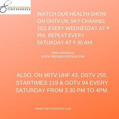 Health TV show on air. Uk Time, Advertise Your Business, Repeat, Wednesday, Tv Shows, Channel, Advertising, Sky, Health