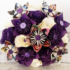 Hey, I found this really awesome Etsy listing at https://www.etsy.com/uk/listing/494408060/paper-wedding-bouquet-origami-rose