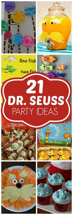 29 Trendy Baby Shower Ides Dr Seuss First Birthday Parties Dr Seuss Party Ideas, Dr Seuss Birthday Party, Colorful Birthday Party, 1st Birthday Parties, Boy Birthday, Ideas Party, Birthday Ideas, Diy Ideas, Birthday Wishes