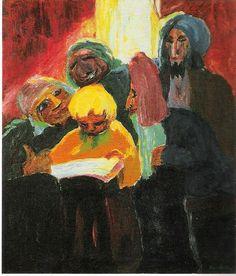 Emil Nolde, Der zwölfjährige Christus (Christ among Doctors) from Das Leben Christi (The Life of Christ), 1911-1912
