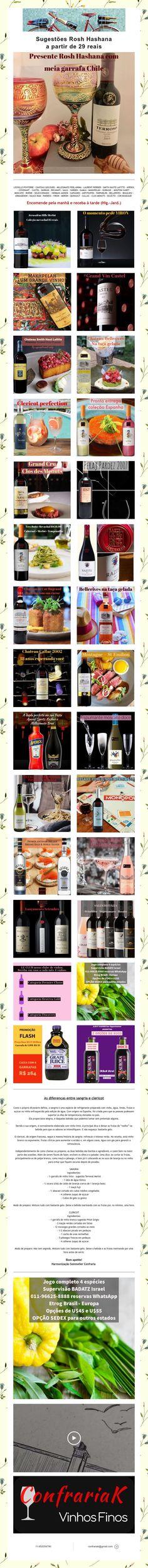 Sugestões Rosh Hashana  a partir de 29 reais Mouton Cadet, Laurent Perrier, Wine Pairings