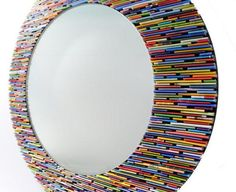 Custom Mirror Made from Recycled Materials by colorstory designs | Hatch.co