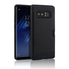 Samsung Galaxy Note 8 Armor Case med Kortförvaring - Svart