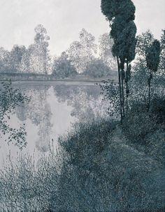 iamjapanese:Wang Long Sheng(王龙生 Chinese, b.1944)oil on canvas  via