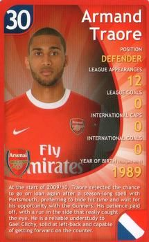 2011 Top Trumps Specials Arsenal #NNO Armand Traore Front