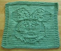 Baby Knitting Patterns Dishcloth Girl Mouse Knit Dishcloth Pattern pattern by Lisa Millan Knitting Squares, Beginner Knitting Patterns, Dishcloth Knitting Patterns, Knit Dishcloth, Knitting Wool, Knitting Stitches, Knitting Projects, Knitted Washcloths, Baby Quilts