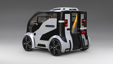 Answer to the 'Smart' from Russia or city car of the future. Small Electric Cars, Electric Bike Kits, Smart Car, Truck Design, City Car, Futuristic Cars, Pedal Cars, Rally Car, Future Car