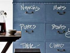 Like the idea of doing this to a really old chest of drawers, maybe use a chalk pen though to avoid dust & smudge! c/o Artick Playground