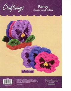 Pansy coasters 1/2