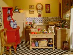 dollhouse kitchen by Wandy in Pensacola, via Flickr