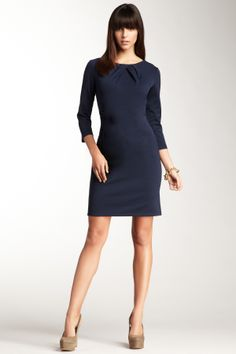Wow - love the neckline detail! So pretty for a winter day at the races.