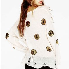 Wildfox White Label Gold Coin Lennon Sweater Wildfox White Label Gold  Coin Lennon Sweater. New with tags. NWT Wildfox Sweaters