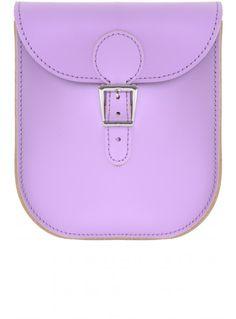 Brit-Stitch Purple Messenger Bag