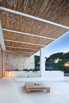 Balearic Islands, formentera, tradition, modern design, architecture, Marià Castelló, Daniel Redolat, minimal, traditional features, stone walls, exposed beams, modern rustic, flow of light and air, polished concrete floor, white washed walls, infinity pool, shaded terrace, style, trend