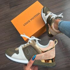 "1,605 Likes, 13 Comments - @stylishflychick on Instagram: ""#louisvuitton #olive #peach #gold #sneakers #comfy #sporty #chic #hot #fly #style #fashion """