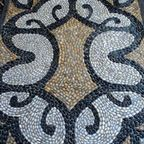 Pebble Mosaic threshold - eclectic - landscape - vancouver - by Pebble and Co. Mosaics
