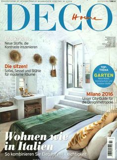 Wohnen wie in Italien. #Cover #MagazineCover Gefunden in: DECO Home, Nr. 2/2016