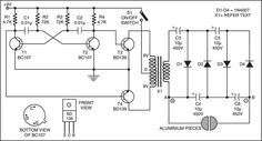 This is a fantastic circuit for self-protection. In case a burglar intrudes your house, you can use this security circuit as a weapon for self-protection by giving a mild electric shock to the attacker. This circuit comprises astable multivibrator, inverter, and voltage quadrupler sections. The astable multvibrator is designed for 1 kHz with a 9V …
