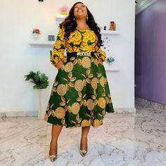 20 Pictures - Latest Ankara Print Gown Styles for the Ladies To Try Out 3 Ankara Dress Styles, Latest Ankara Styles, Printed Gowns, African Fashion Dresses, Fashion Pictures, High Waisted Skirt, Lady, Skirts, Dresses With Sleeves