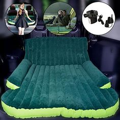 Wolfwill Universal SUV Travel Air Mattress  Multifunctional Mobile Inflatable Air Bed Cushion Dedicated for Sleep Rest and Intimate Motion Green * You can get additional details at the image link.