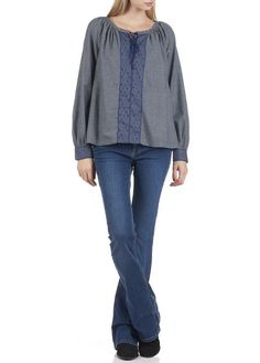Jean boot-cut Phoebe Jean Delave by REIKO blouse bensimon