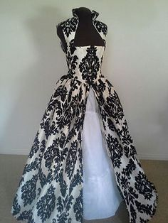 Black and WHITE Renaissance HOLIDAY - Dress or Costume Many Available!