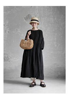 【楽天市場】【送料無料】Joie de Vivreフレンチリネンワッシャー ギャザーアンティークワンピース:BerryStyleベリースタイル Mori Fashion, Fashion Dresses, Womens Fashion, Asian Street Style, Asian Style, Black Hijab, Dandy Style, Minimal Outfit, Clothes Crafts