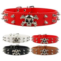 Great savings on this Spikey Skull Leather Dog Collar     FREE worldwide shipping    https://www.pawsify.com/product/spikey-skull-leather-dog-collar/