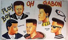 A nice collection of barbershop signs from West Africa can be found at Indigo Arts Gallery. African Shop, African Art, African Culture, African Hair Salon, Barber Sign, Salon Signs, Folk, Old Signs, Afro Art