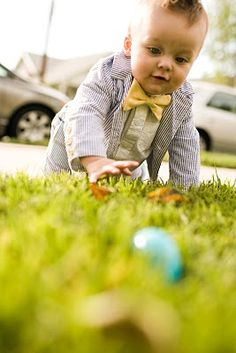 your child someday...seersucker suit and a bowtie and still crawling :)