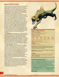 Homebrewing monsters Ember Dungeon Mastery Monster Hunter World: Jagras and Rathian Dungeons And Dragons Rules, Dungeons And Dragons Classes, Dnd Dragons, Dungeons And Dragons Characters, Dungeons And Dragons Homebrew, Monster Book Of Monsters, Cool Monsters, Dnd Monsters, Mythical Creatures Art