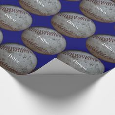 Baseball Add A Name Birthday Gift Wrap Paper