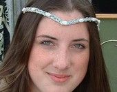 Celtic Moonstone Wedding Tiara,  'Moon Goddess' style.