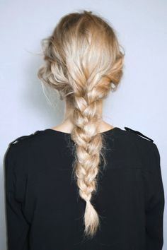 Long thick braid // #hair #braids