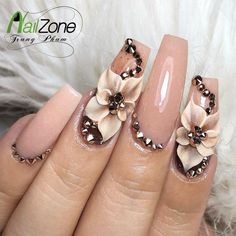 Expand fashion to your nails by using nail art designs. Used by fashionable stars, these kinds of nail designs can incorporate instantaneous elegance to your apparel. Cute Nail Art, Cute Acrylic Nails, 3d Nail Art, Cute Nails, Pretty Nails, Nail Nail, Red Nail, Pastel Nails, 3d Nail Designs
