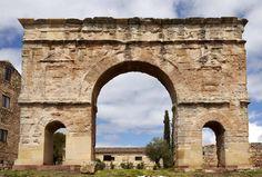 The Roman arch of Medinaceli, Soria, Spain