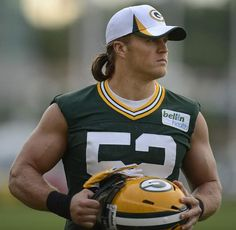 Green Bay Packers linebacker Clay Matthews looks on during a training camp practice in July. File/Press-Gazette Media