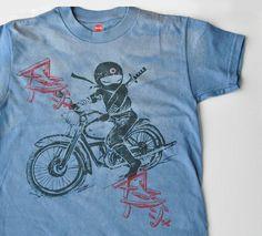 One of kind boy Ninja rider tee by namu on Etsy, $26.00