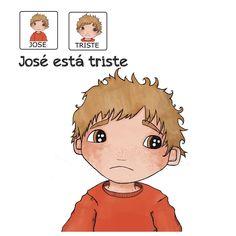 """""""José está  triste"""" - Proyecto sin ánimo de lucro que consiste en la creación, producción y difusión de cuentos infantiles adaptados a pictogramas para niños con autismo y otras necesidades especiales de aprendizaje, http://www.aprendicesvisuales.com/cuentos/"""