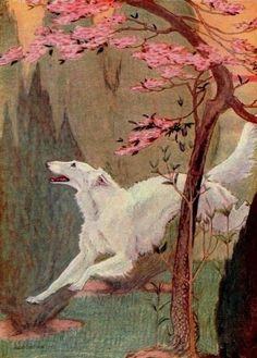 Bull, Charles Livingston (b,1874)- F- 'All Around Robin Hood's Barn- Canine Idyll' {Duplicate Variation Below- this is Darker}