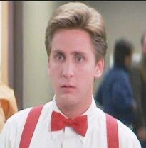 """Emilio Estevez played Kirby Keger in St. Elmo's Fire, 1985 """"I'm obsessed, thank you very much"""". Emilio Estevez, Charlie Sheen, The Breakfast Club, Me Tv, Elmo, Classic Movies, Boyfriends, The Outsiders, Celebrity"""