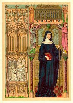 Santos, Beatos, Veneráveis e Servos de Deus: Santa Escolástica, Virgem e Fundadora, irmã de São...