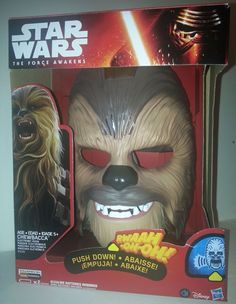 NEW Star Wars The Force Awakens Chewbacca Roaring Electronic Mask Wookie Talking #StarWars