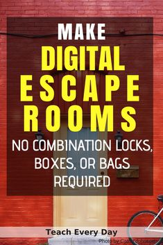 How To Make Any Worksheet Into an Escape Room in the Classroom - Teach Every Day