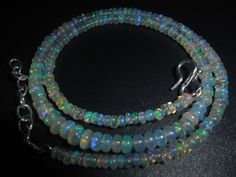 """36.90 Crts 1 Strands 2.5 - 5mm 16"""" Beads Necklace Ethiopian Welo fire Opal #Unbranded"""