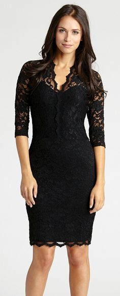 Nothing beats a perfect little black dress. Here's my favorite - love this black lace dress.