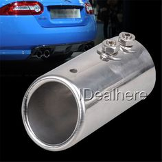 Universal Car Exhaust Muffler Tip High Quality Stainless Steel Pipe Chrome Trim Modified Car Tail  Pipe Exhaust System New