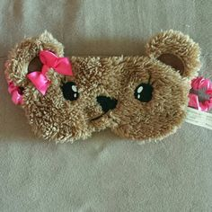 FINAL PRICE Teddy Bear Sleep Mask Brand new. Wore a few times. Excellent condition. Super cute teddy bear sleep mask. Bought from Claires. This is the FINAL price since Posh takes out their fee's Claire's Accessories